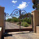 Automatic-swing-gate-in-wrought-iron