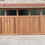 Cedar-counterweight-with-windows-Garage-Door