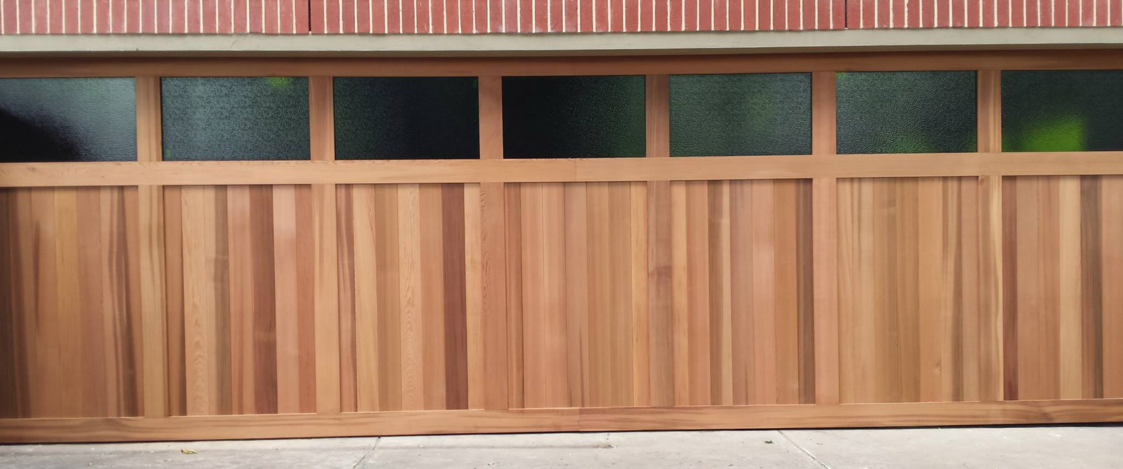 Cedar-counterweight-with-windows-Garage-Door-Slide