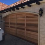 Curved-top-cedar-sectional-door