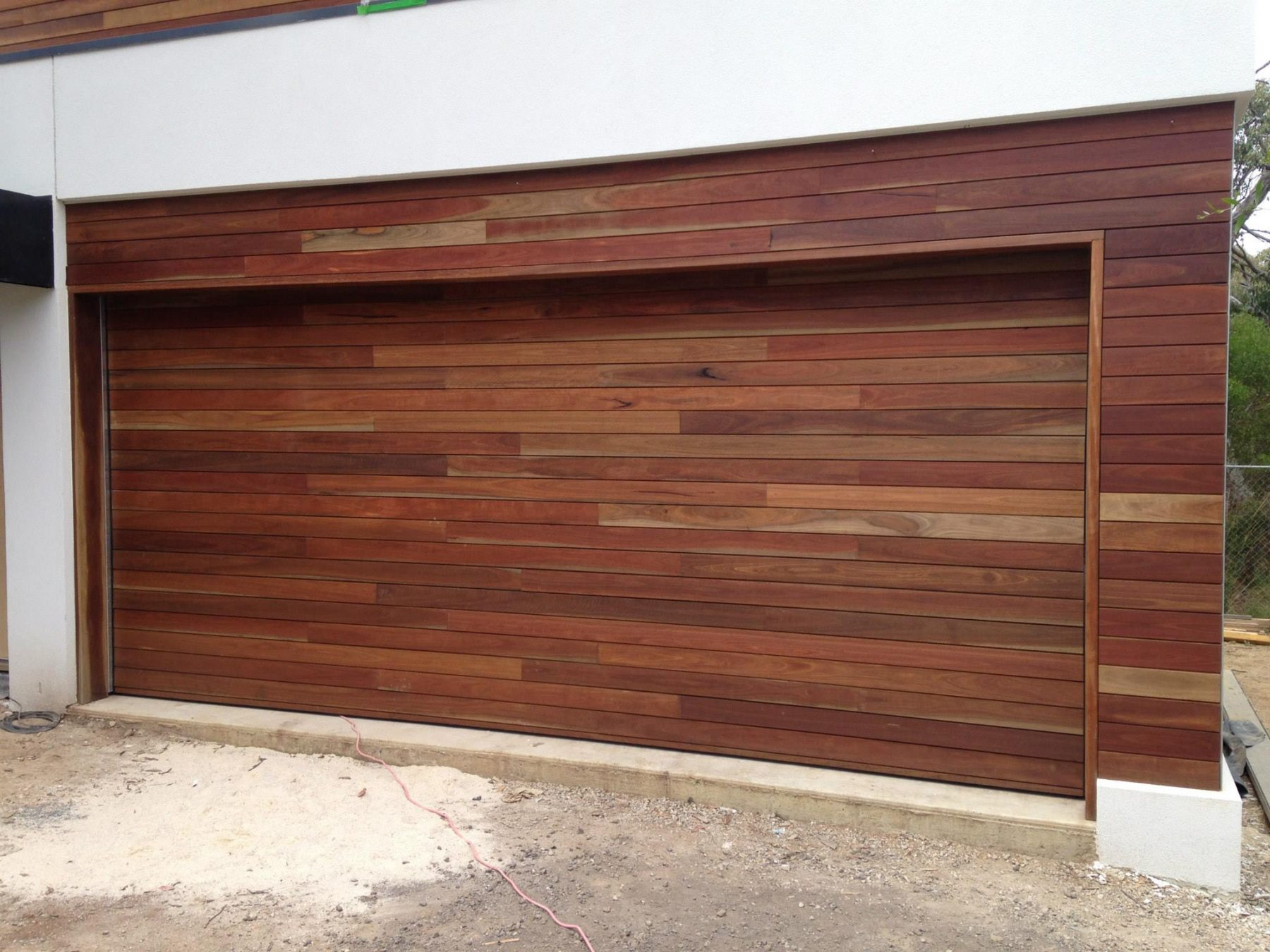Spotted Gum Counterweight Garage Door