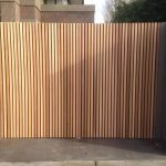 Swing-gates-in-marine-ply-with-cedar-battons