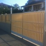 Vertical-picket-swing-gates