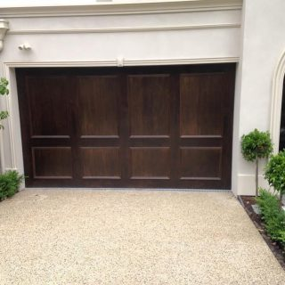 Tilt door finished with ply and mouldings #customgaragedoors #tiltdoor
