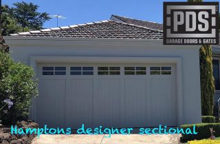 The ever popular Hampton's style garage door #hamptonsgaragedoor #customgaragedoors