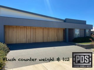 "Counter weight & tilt garage doors, flush install. We supply ""fame only"" garage doors that can be clad with a material of your choice to suit the facade of your house #flushgaragedoor #counterweightgaragedoor #customgaragedoorsmelbourne"
